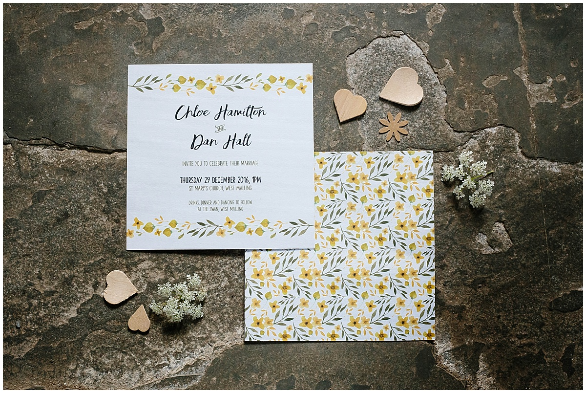 Wedding invitations from Feather and Flourish