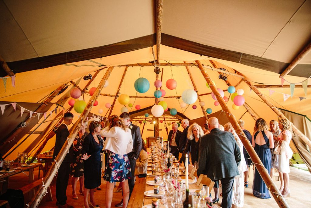 Guests in a tipi
