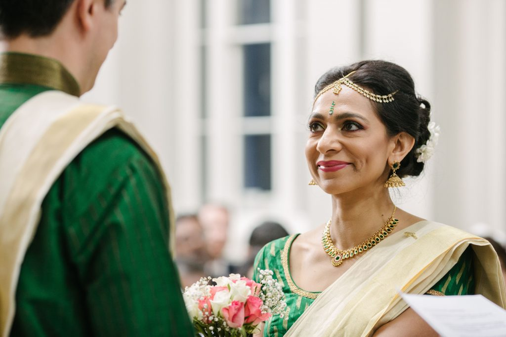 Bride getting married, wedding ceremony, Grand Station, Wolverhampton