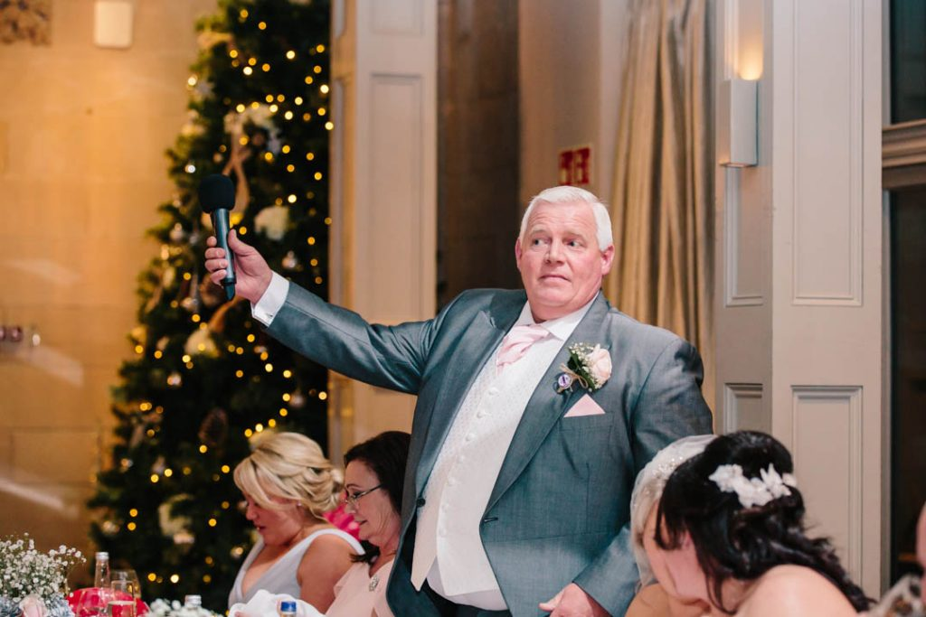 Father of the Bride giving a speech at Hampton Manor