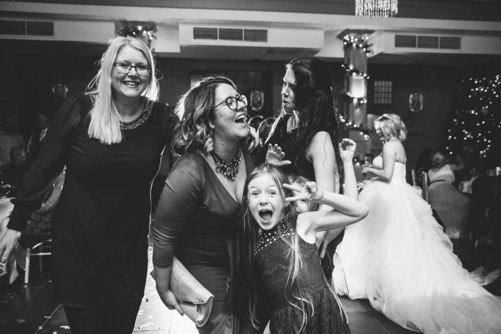 guests dancing at a wedding at Hampton manor