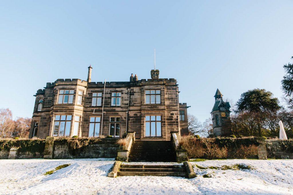 Hampton Manor with snow