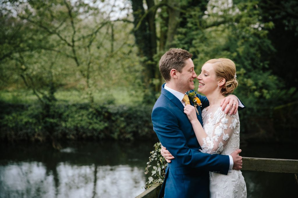 Bride and Groom, riverside at the Saxon Mill