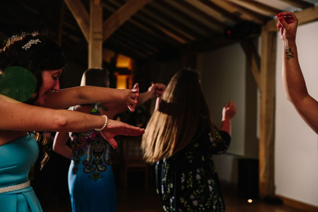 Guests dancing at Dodford Manor, Northampton