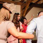 Guests dancing at Dodford manor wedding