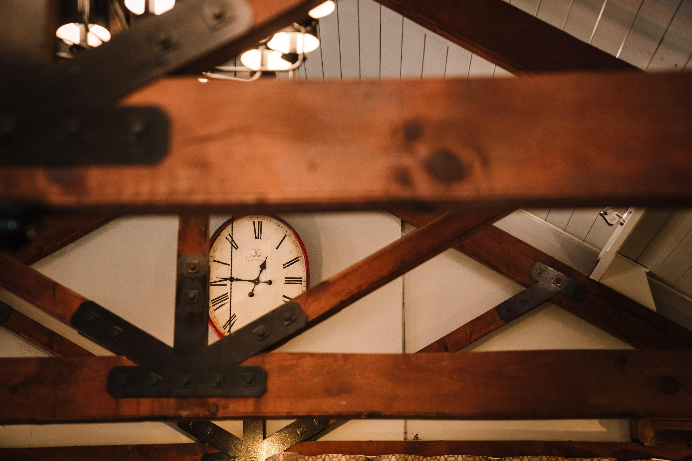 clock in the royal arms hotel wedding