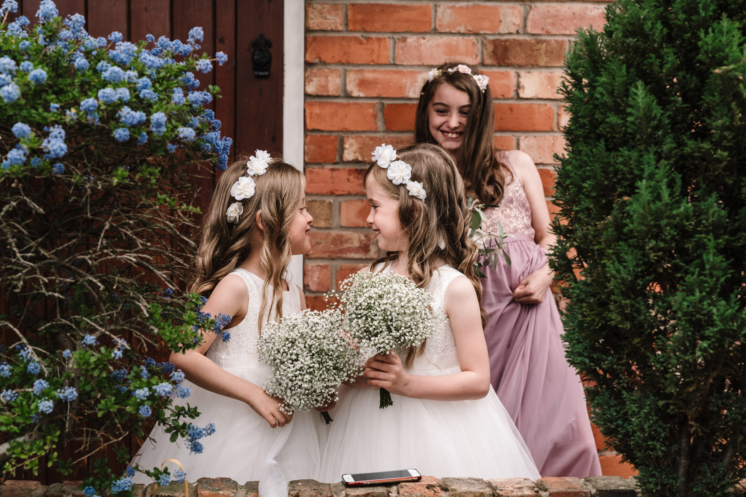 bridesmaids waiting for bride, royal arms hotel wedding