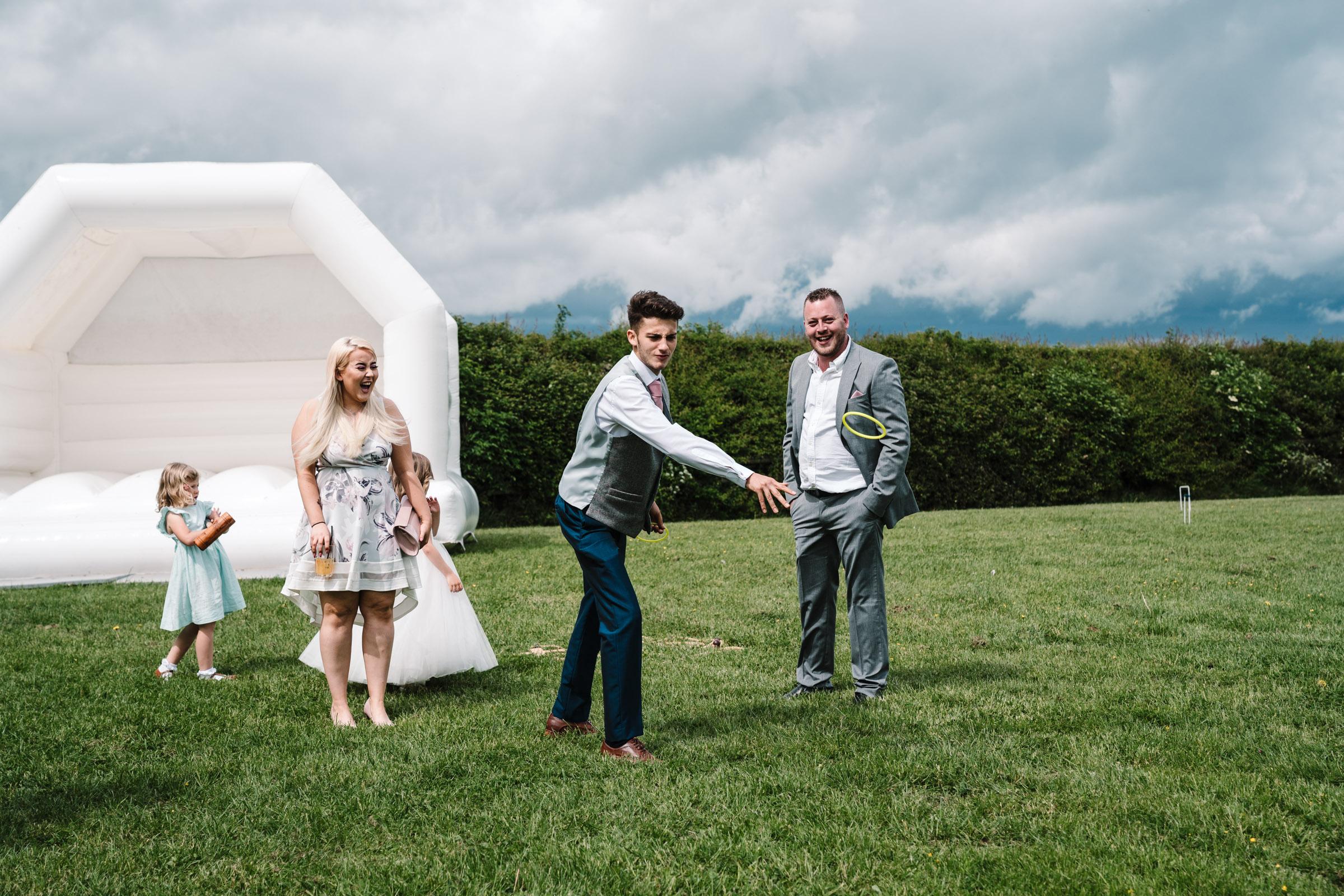 Garden games, royal arms hotel wedding
