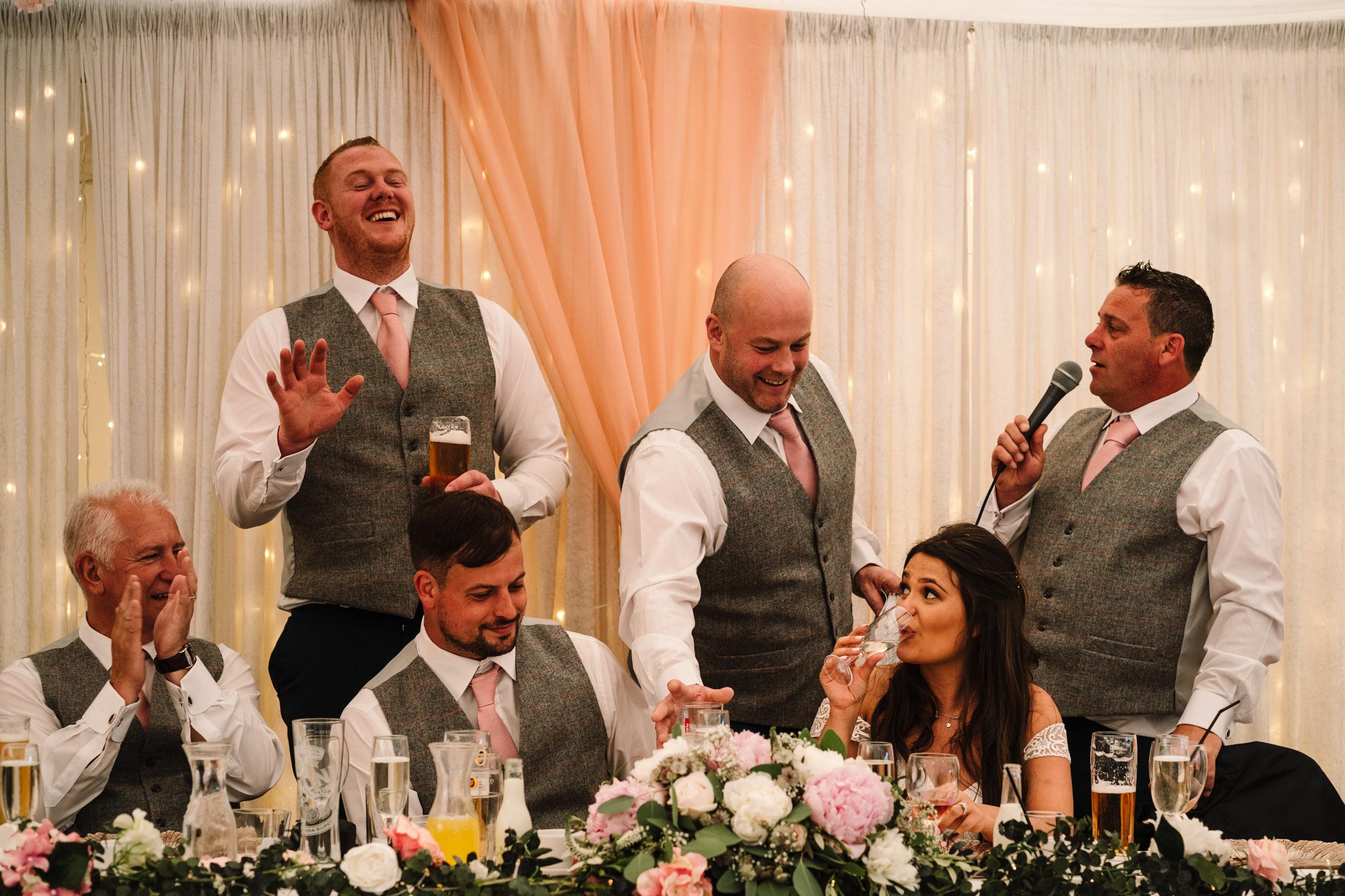 Best men speeches, royal arms wedding