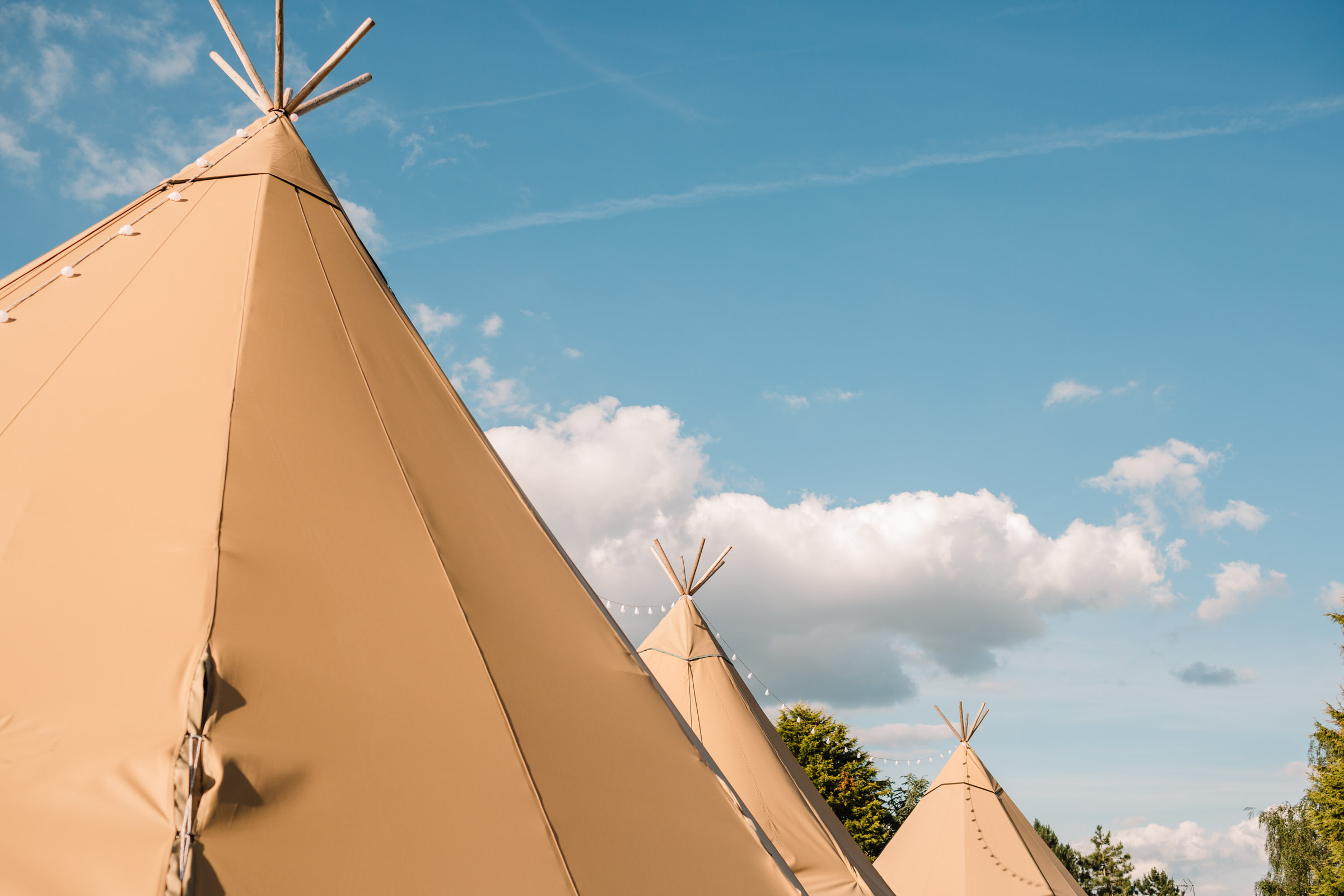 peaks of tipi wedding