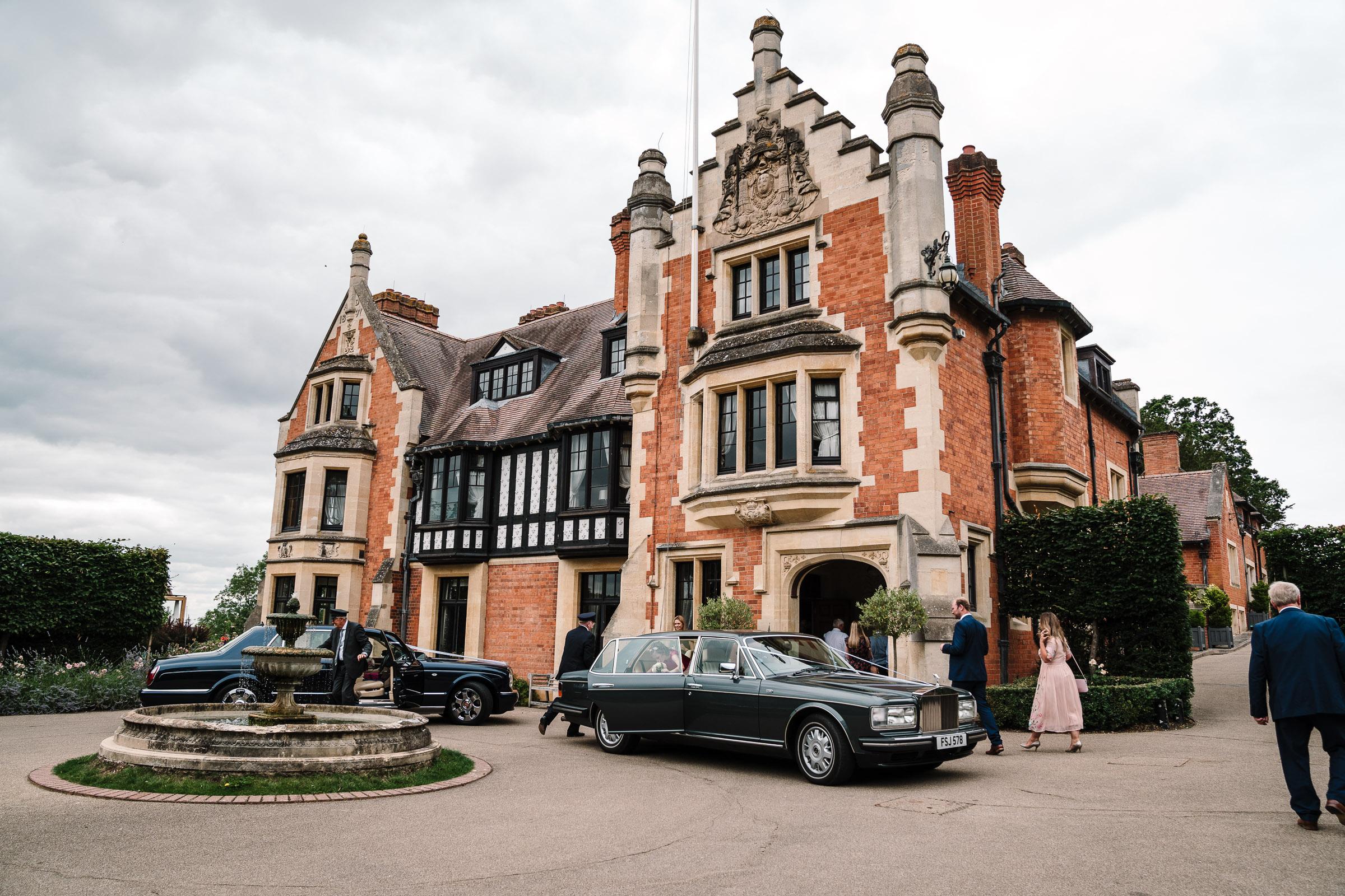 bridal cars outside wood norton